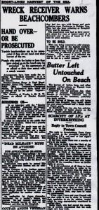 Receiver warns beachcombers