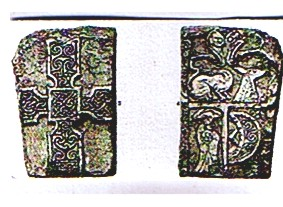 Monifieth Stone Cross circa 800AD (now in the Edinburgh museum)