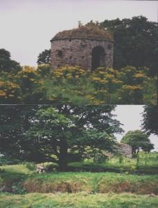 Round House top Broch ruin below