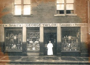 Taylor the Grocer            Located on the south side of the High Street c1915