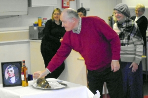 Joe Morgan Addresses the Haggis