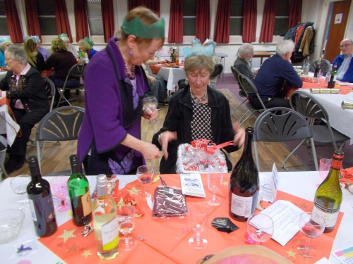 and the winner is Linda - with Marianna looking on
